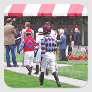 Saratoga's Top Jockeys heading to the Paddock Square Sticker