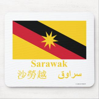 Sarawak flag with name mouse pad