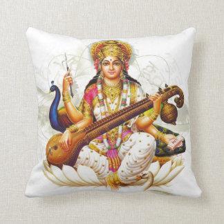 Sarawasti Hindu Goddess Throw Pillow