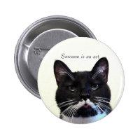 Sarcasm Cat Button