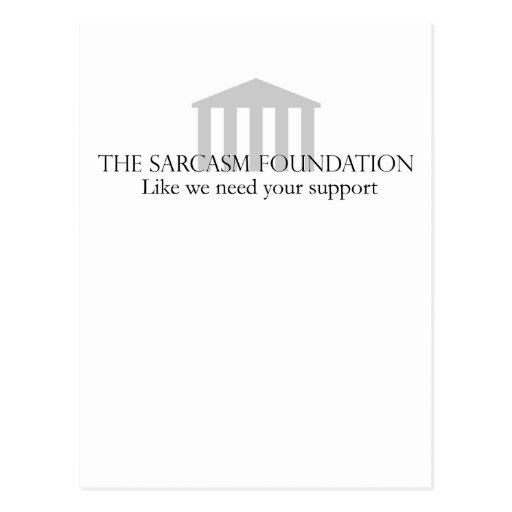 Sarcasm Foundation Postcards