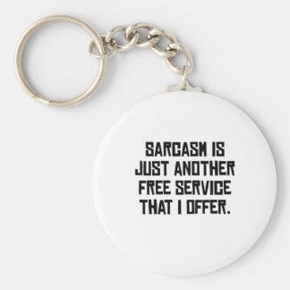 Sarcasm Free Service Keychains