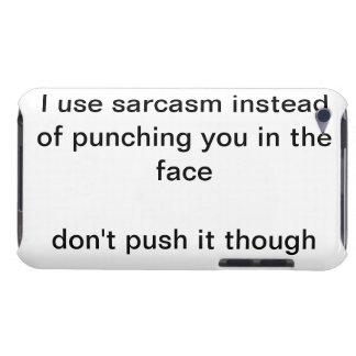 sarcasm joke ipod touch case