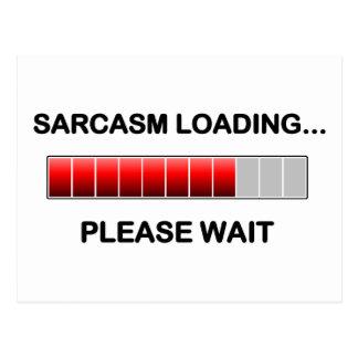 Sarcasm Loading Postcard