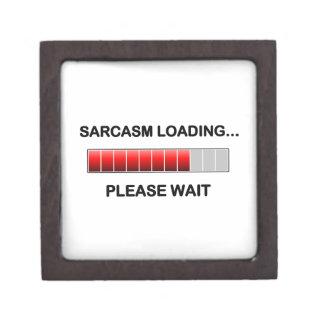 Sarcasm Loading Premium Trinket Boxes