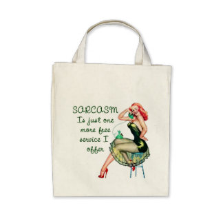 Sarcasm Pin Up Girl Bag