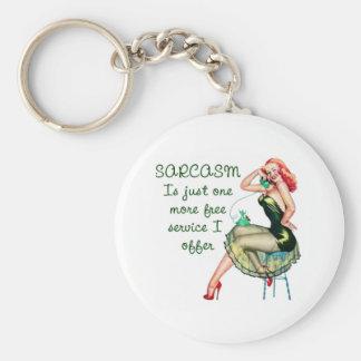 Sarcasm Pin Up Girl Key Chain