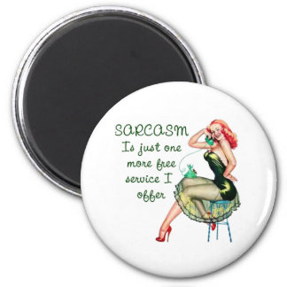 Sarcasm Pin Up Girl Magnet