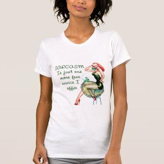 Sarcasm Pin Up Girl T Shirt