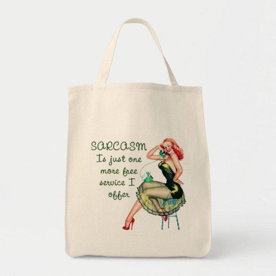 Sarcasm Pin Up Girl Tote Bag