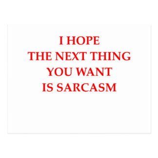 sarcasm postcard