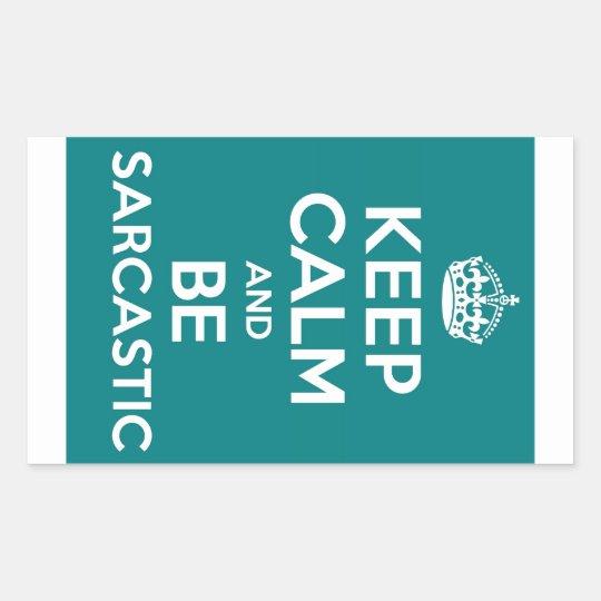 Sarcasm Rectangular Sticker