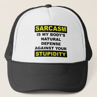 Sarcasm Stupidity Defense Cap Hat Funny
