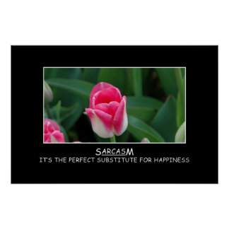 Sarcasm: the perfect substitute for happiness [XL] Poster