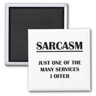 Sarcasmo:  Apenas uno de los muchos servicios que  Imán Cuadrado
