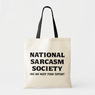 Sarcasmo nacional bolsa tela barata