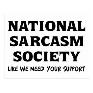 Sarcasmo nacional tarjeta postal