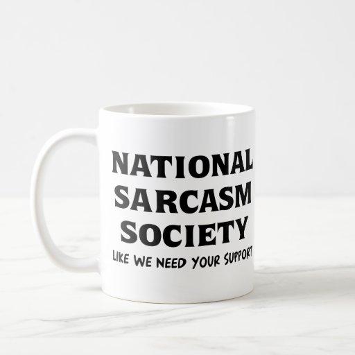 Sarcasmo nacional taza básica blanca