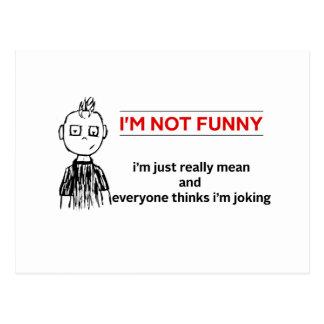 "Sarcasmo ""no divertido"" divertido postales"