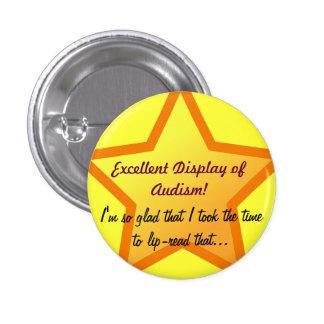 Sarcastic Audism Award Pinback Button