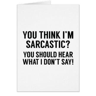 Sarcastic Card