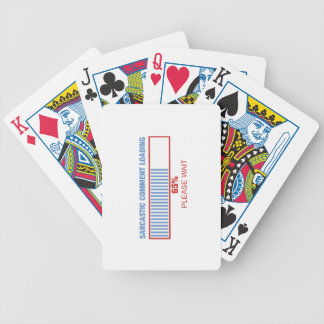 Sarcastic comment loading bicycle playing cards
