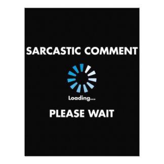 Sarcastic Comment Loading Letterhead