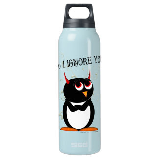 Sarcastic Evil Penguin Insulated Water Bottle
