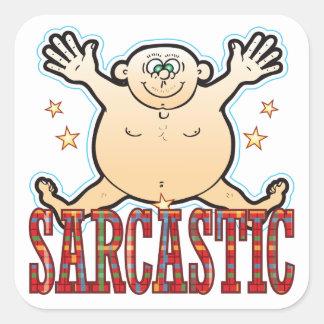 Sarcastic Fat Man Square Sticker