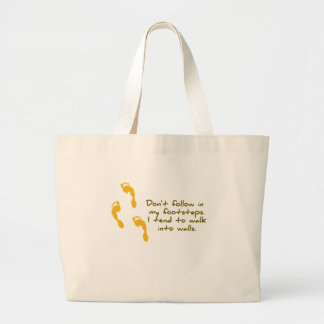 Sarcastic Footsteps Shirt Bags