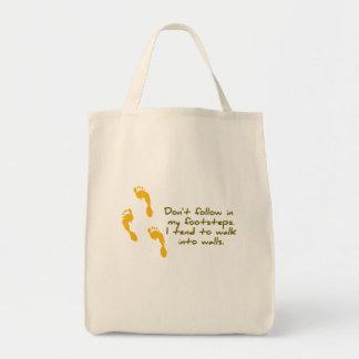 Sarcastic Footsteps Shirt Tote Bag