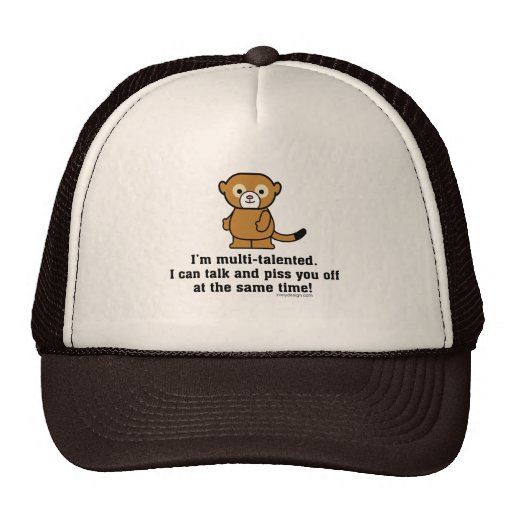 Sarcastic Insult Humor Monkey Mesh Hats