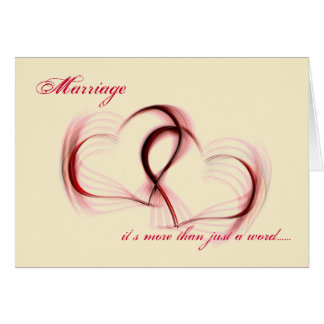 Sarcastic Intertwined Hearts I Love You Card