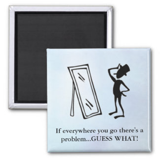 Sarcastic One Liner for Annoying People 2 Inch Square Magnet