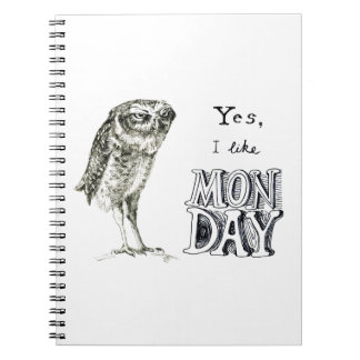 Sarcastic owl notebook