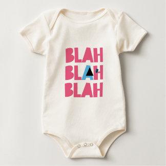 Sarcastic Sarcasm Pink Blue Girly Bla Blah Blah Baby Bodysuit