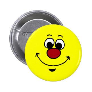 Sarcastic Smiley Face Grumpey Button