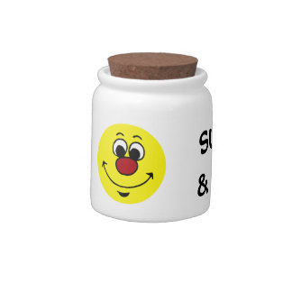 Sarcastic Smiley Face Grumpey Candy Jars