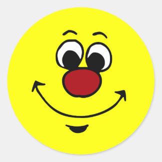 Sarcastic Smiley Face Grumpey Classic Round Sticker
