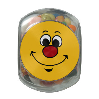 Sarcastic Smiley Face Grumpey Jelly Belly Candy Jar