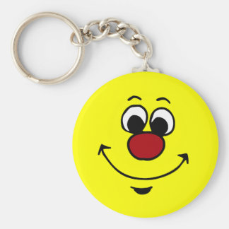 Sarcastic Smiley Face Grumpey Keychain