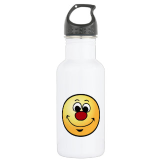 Sarcastic Smiley Face Grumpey 18oz Water Bottle