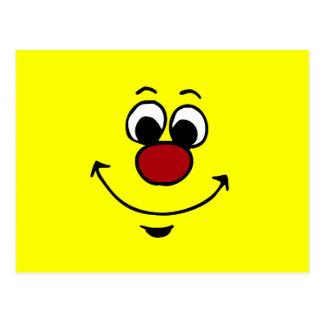 Sarcastic Smiley Face Grumpey Postcard