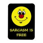 Sarcastic Smiley Face Grumpey Rectangular Photo Magnet
