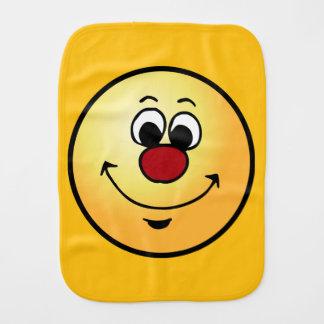 Sarcastic Smiley Face Grumpey Baby Burp Cloth