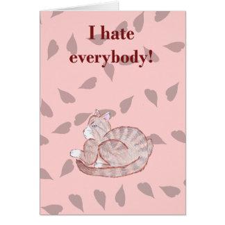 Sarcastic Valentine - Cat Card