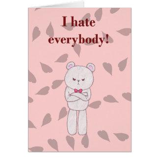 Sarcastic Valentine - Teddy Card