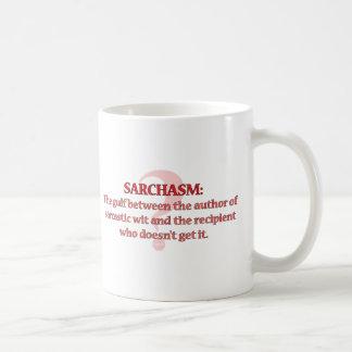 Sarchasm Taza Básica Blanca