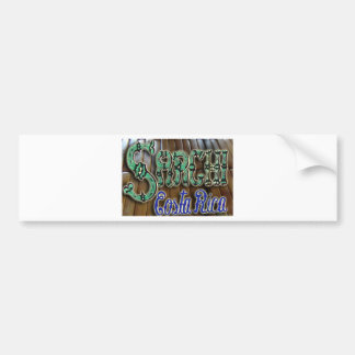 Sarchi Costa Rica Wood Bumper Sticker