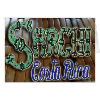 Sarchi Costa Rica Wood Greeting Card
